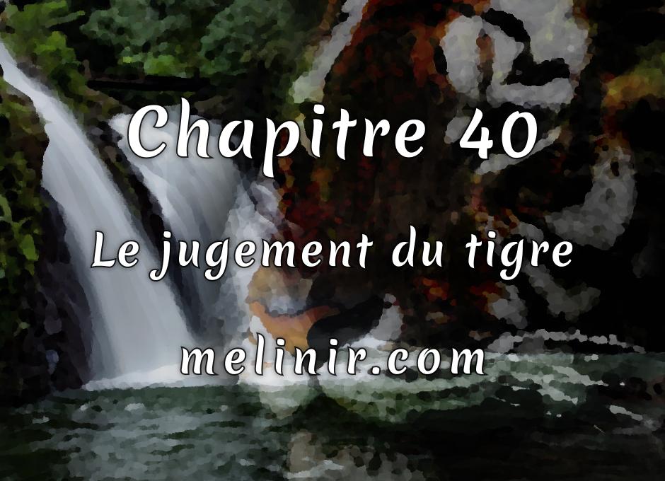 Melinir Tome 1 - Chapitre 40 - Le jugement du tigre
